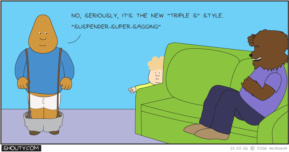 Suspender super sagging