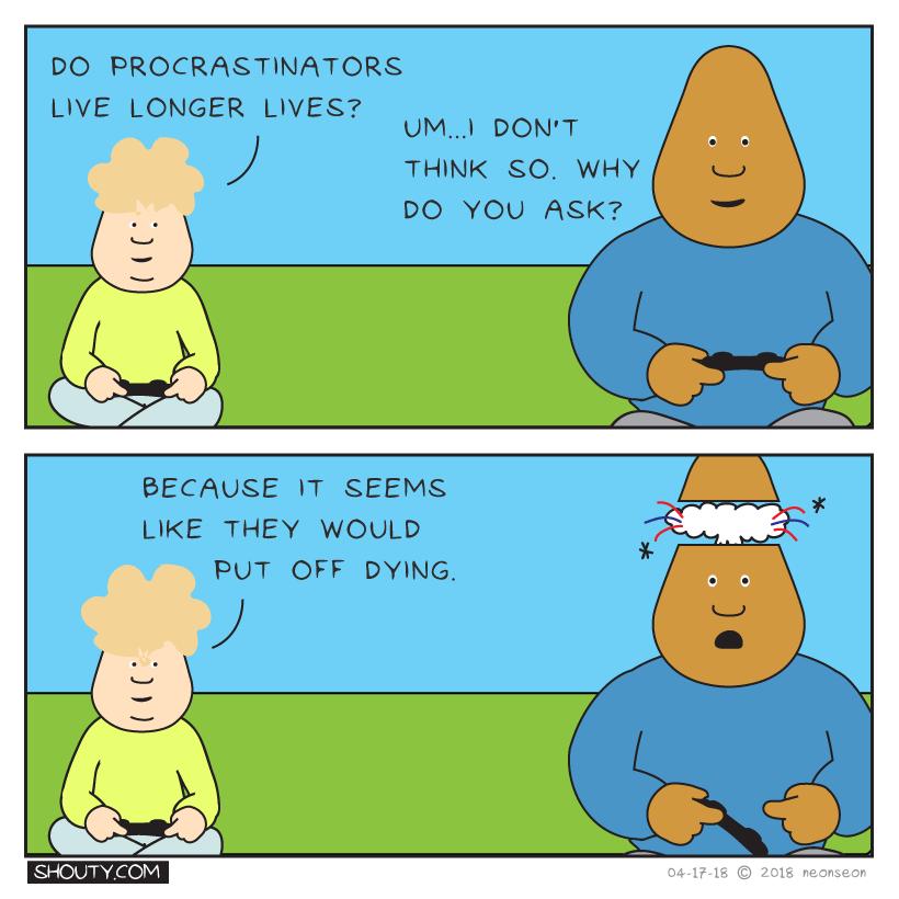 Procrastinators Lifespan