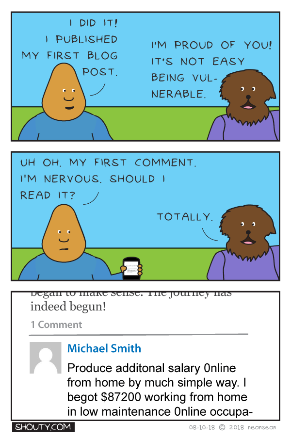 First Comment Comic by Shouty