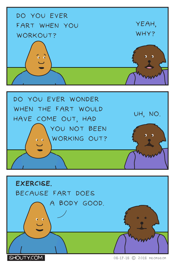 Exercise Comic by Shouty