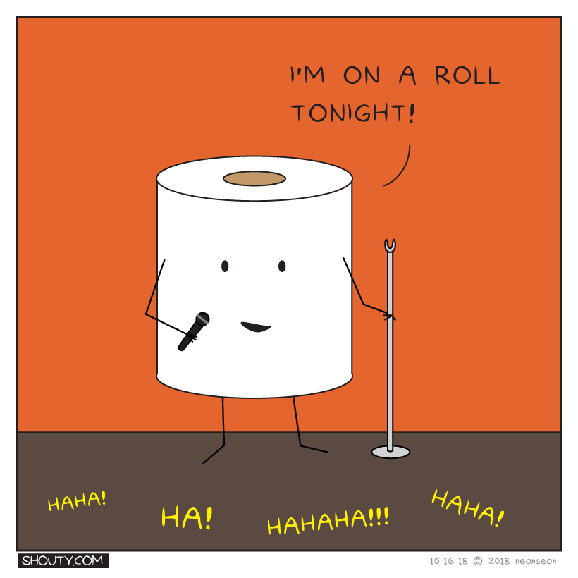 Toilet Paper Comedy Comic by Shouty
