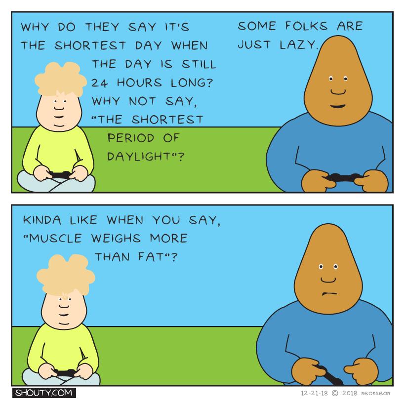 Lazy Talk Comic by Shouty