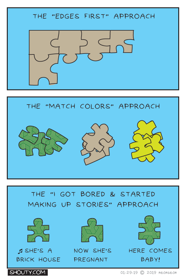 Puzzle Solving Comic by Shouty